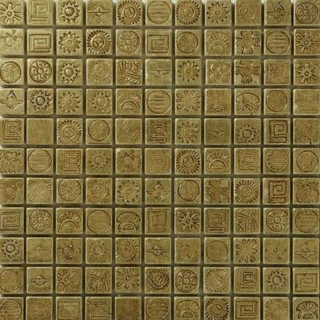 MOSAIC AZTECA COLLECTION GOLDEN CARVED