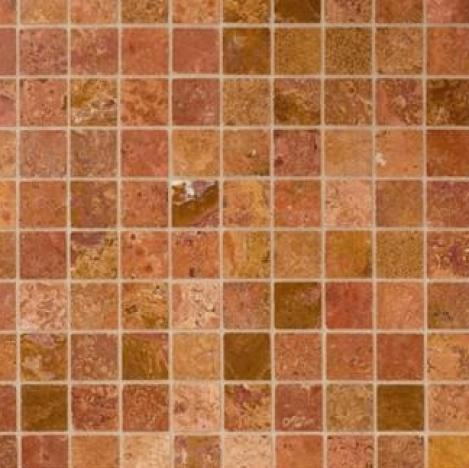 MOSAIC RED TRAVERTINE